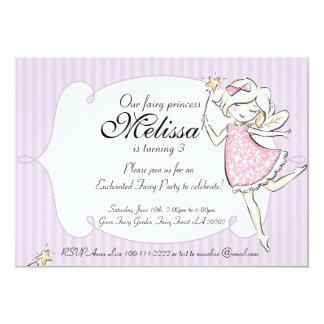 Förtrollad felik Princess födelsedagsfest inbjudan