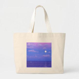Förtrollad Moonrise Cancun för hav Tote Bag