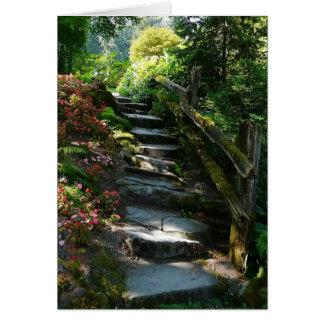 Förtrollad trädgårds- väg hälsningskort