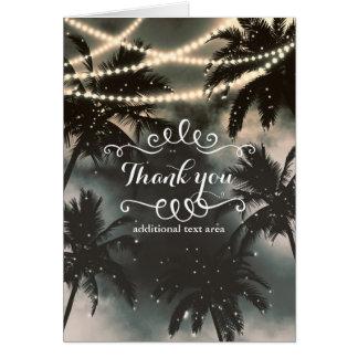 Förtrollade palmträd för natthimmel & stränger OBS kort