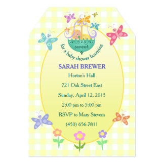 Förtrollande baby showermärkreinbjudan 12,7 x 17,8 cm inbjudningskort