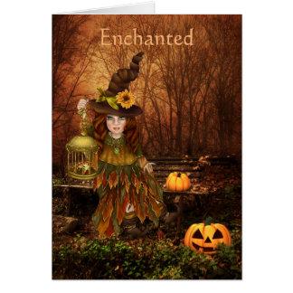 Förtrollat Halloween födelsedagönskemål Hälsningskort