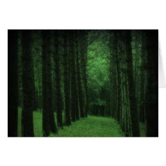 Förtrollat skogkort hälsningskort