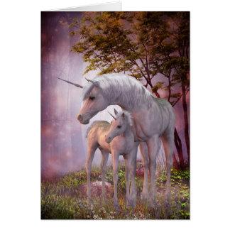 Förtrollat Unicornshälsningkort Hälsningskort