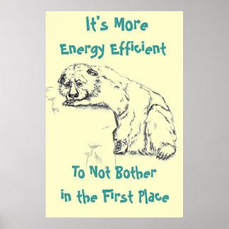 Förtvivlanbjörnaffisch - energieffektivitet