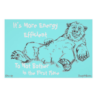 Förtvivlanbjörnaffisch - energieffektivitet poster
