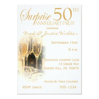 Förvåna 50th årsdagpartyinbjudningar 12,7 x 17,8 cm inbjudningskort