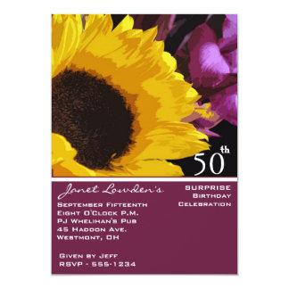 Förvåna 50th födelsedagsfest inbjudan