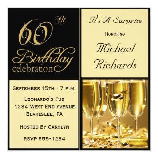 Förvåna 60th födelsedagsfest inbjudan
