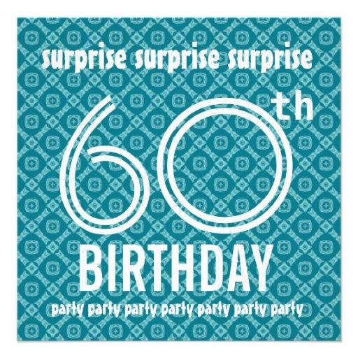 FÖRVÅNA 60th födelsedagsfestAquadiamanter V05A Inbjudan