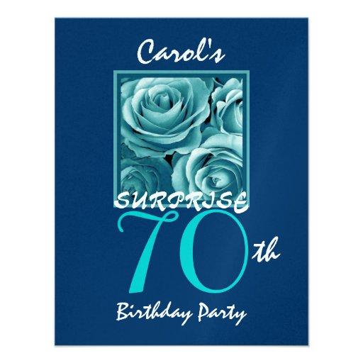 FÖRVÅNA 70th födelsedagsfestblåttro S513 Personliga Tillkännagivande