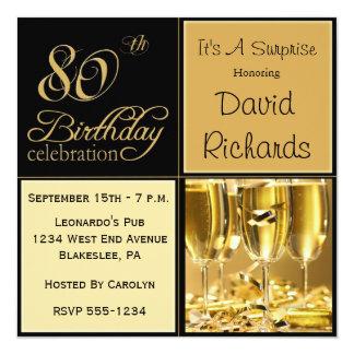 Förvåna 80th födelsedagsfest inbjudan