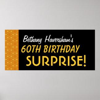 Förvåna den 60th födelsedagen eller något guld- poster