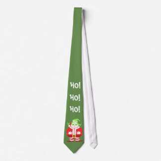 Förvånad Santa (grön) slips