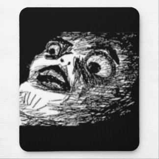 Förvånadt komiskt ansikte mus mattor