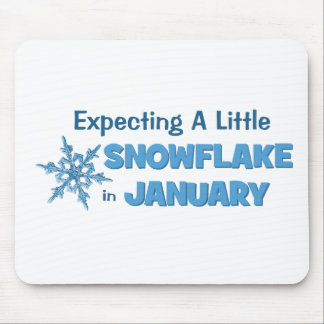 Förvänta lite en Snowflake i Januari moderskap Mus Matta