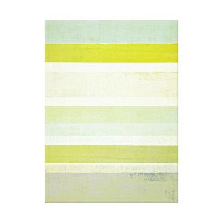 """""""Förväntan"""" grå färg och abstrakt konst för gult Canvastryck"""