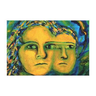 Förväntan - guld- och smaragdgudinna canvastryck