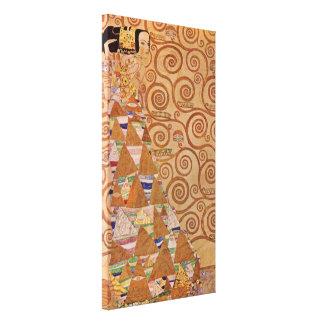 Förväntan vid art nouveau för Klimt Canvastryck