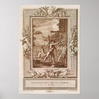 Förvärvet av Corsica i 1768 Poster