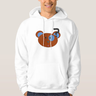 Förvirrad björn hoodie