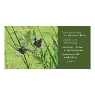 Foss fjärilscitationstecken Notecard Fotokort