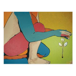 Fostra - abstrakt konst vykort