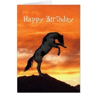 Fostra hästFödelsedagskort OBS Kort