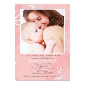 Fostra inbjudan för pensionbaby showerfoto
