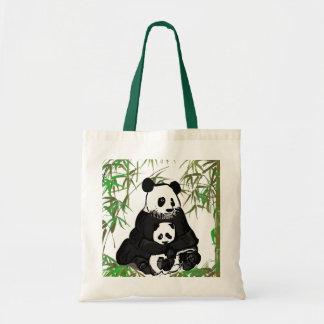 Fostra och behandla som ett barn pandaen/den Mamá  Tygkasse