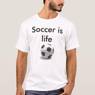 Fotboll är liv t shirts