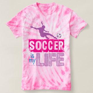 Fotboll är mitt liv tee shirts