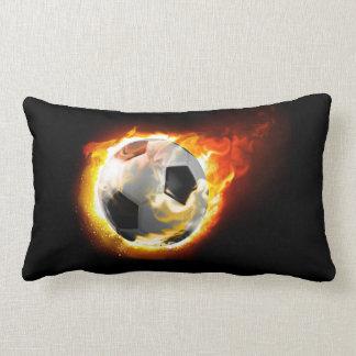 Fotboll avfyrar bolllumbaren kudder lumbarkudde