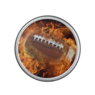 Fotboll avfyrar på bluetooth högtalare
