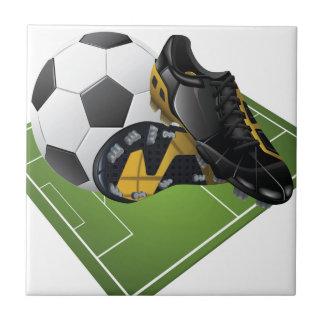 Fotboll belägger med tegel kakelplatta