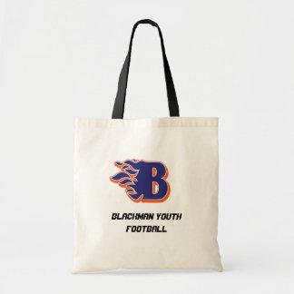 Fotboll för Blackman eldsvådaungdom och Cheerleadi Tygkasse