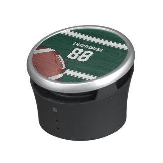 Fotboll för järn för grönt- och vitrandJersey Speaker