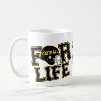 Fotboll för liv - guld- sportmugg för svart & för kaffemugg