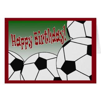 Fotboll - grattis på födelsedagen från den största hälsningskort
