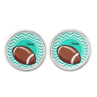 Fotboll; Grön sparre för Aqua Cufflinks