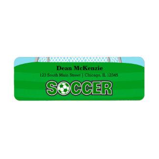 Fotboll (grönt) returadress etikett
