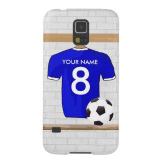Fotboll Jersey för fotboll för personligblåttvit Galaxy S5 Fodral