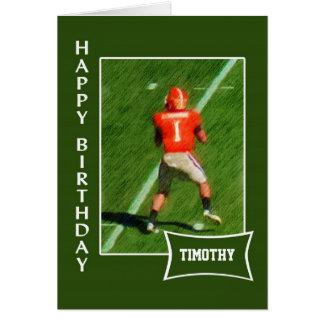 Fotboll - känt födelsedagkort för anpassningsbar hälsningskort
