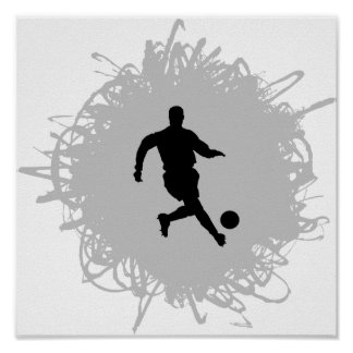 Fotboll klottrar stil poster