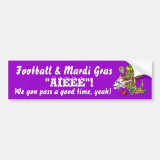 Fotboll Mardi Gras som Voodoo Skelly beskådar, Bildekal