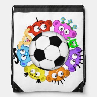 fotboll med tittutbesättningen vandringssäck