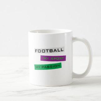 Fotboll min sport min passion kaffemugg