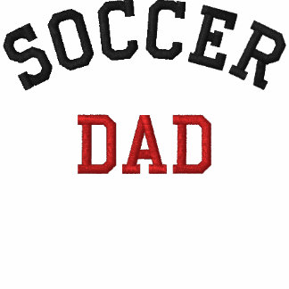 Fotboll pappa broderad tröja