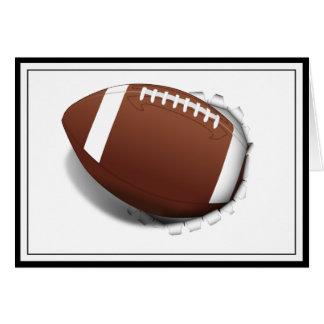 Fotboll som ut river hälsningskort