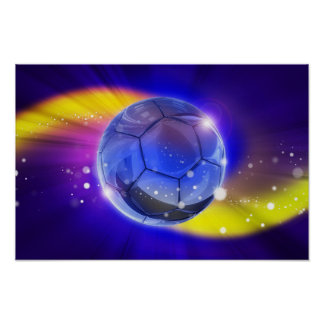 Fotboll världens den populäraste sportaffischen poster
